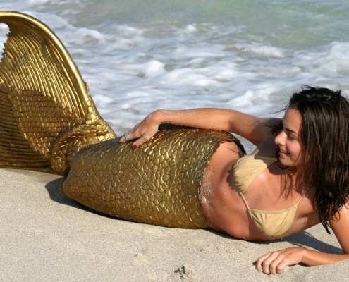 monofin mermaid freediving beach picture