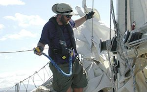 A sailor in strong winds off Nicaragua remains...